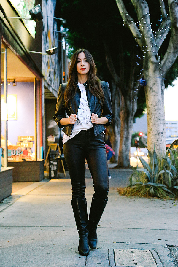 leather fashionista in los angeles