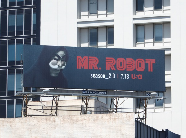 Mr Robot season 2 mask billboard