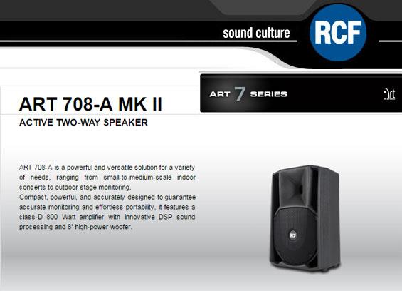 Speaker Aktif Speaker Aktif RCF ART 708 A MK2