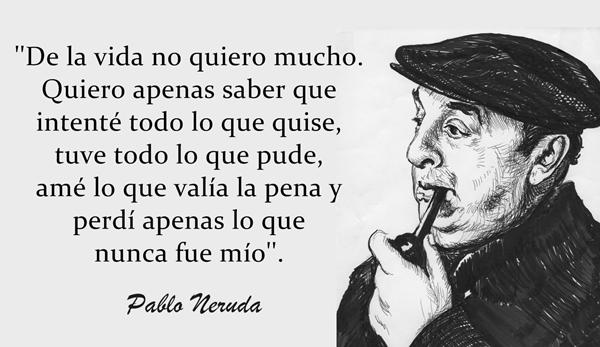 20 de Frases de Pablo Neruda que te harán creer en el amor
