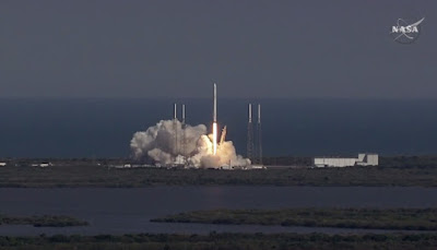 Lanci satelliti in orbita ripresi da SpaceX
