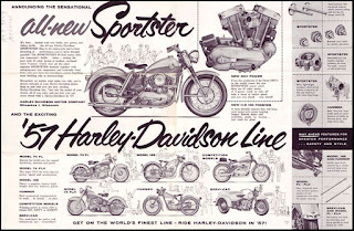 xl sportster 1957 adversiting all new sportster 57 hd line