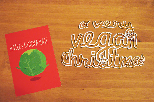 Sprout postcard vegan christmas
