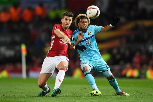 Hasil gambar untuk aksi pertandingan feyenoord vs manchester united 4:0