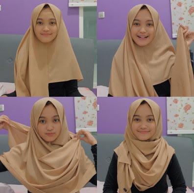 cara menggunakan hijab segiempat
