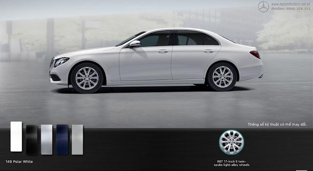 Mercedes E200 2017 được thiết thế theo phong cách cổ điển và lịch lãm