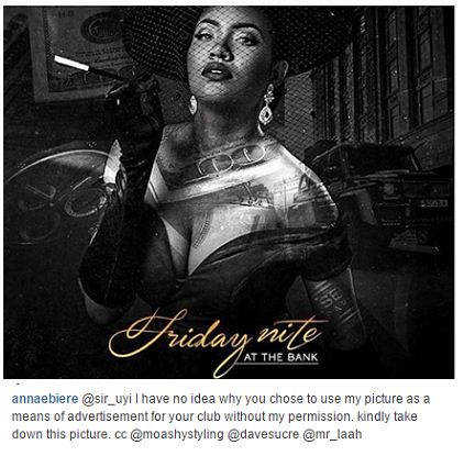 Nigerians Blasts Anna Banner for calling out club owner who used her picture for club promotion