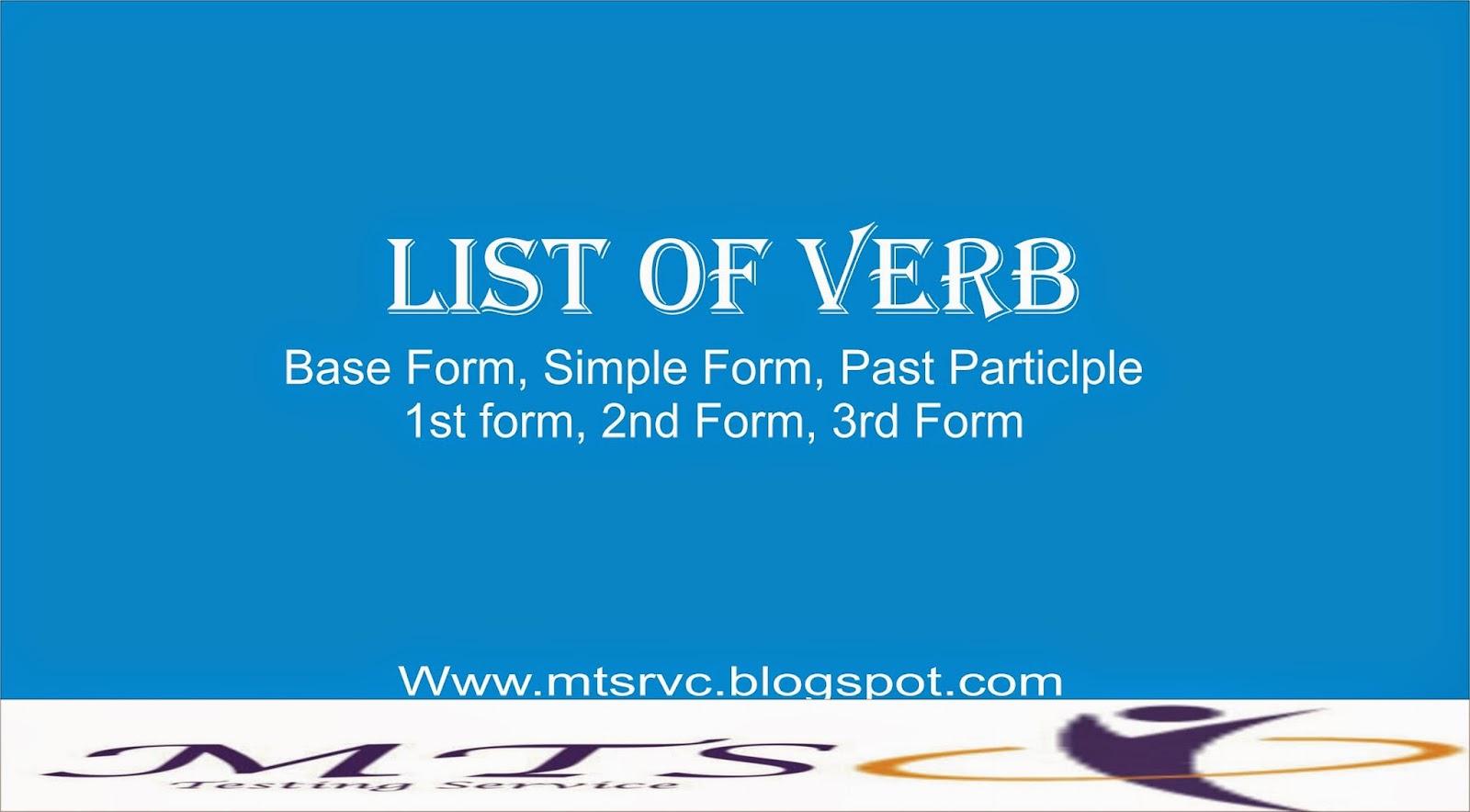 Verb Base Form