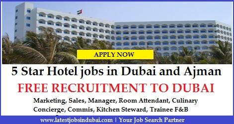 5 star hotels jobs in dubai and ajman for List of 5 star hotels in dubai