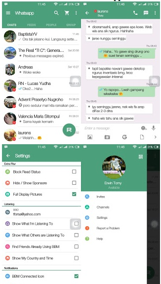 BBM Mod Tema WhatsApp 2.12.0.11 Terbaru 2016