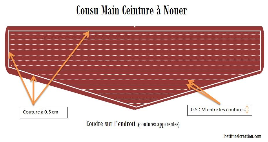 Couture pour débutants   Ceinture Large à Nouer Bettinael.Passion ... 5a56ad88bbc