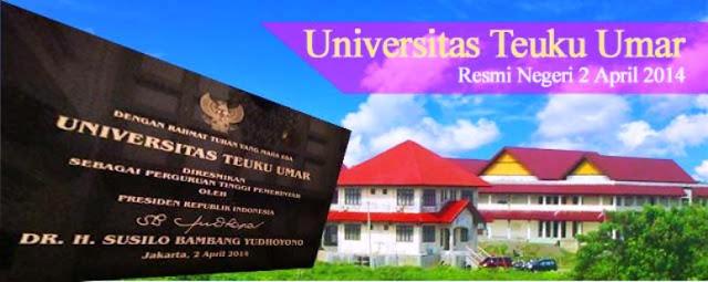 PENERIMAAN CALON MAHASISWA BARU (UTU)  UNIVERSITAS TEUKU UMAR