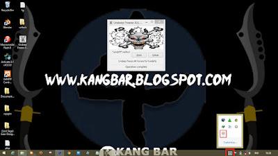 Icon Beruang Putih (Deepfreeze) Di Taskbar