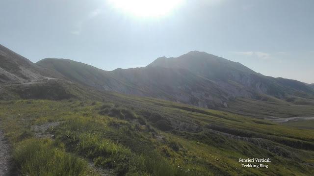 Panorama sulla via del Monte Brancastello
