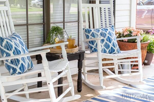 cottage porch with rockers