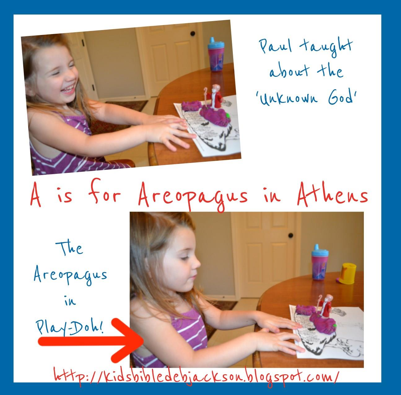 Bible Fun For Kids Preschool Alphabet A Is For Areopagus