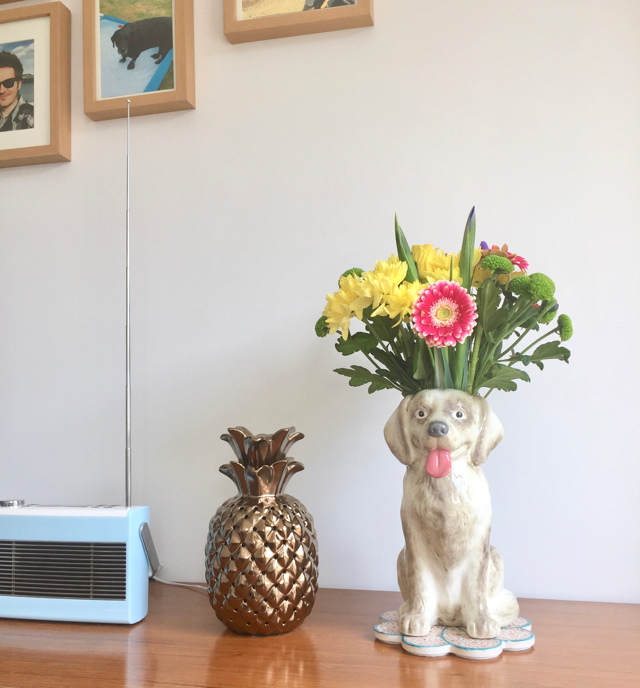 George @ Asda dog shaped vase and pineapple lamp