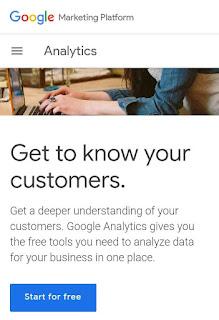 Signin ke google analystics