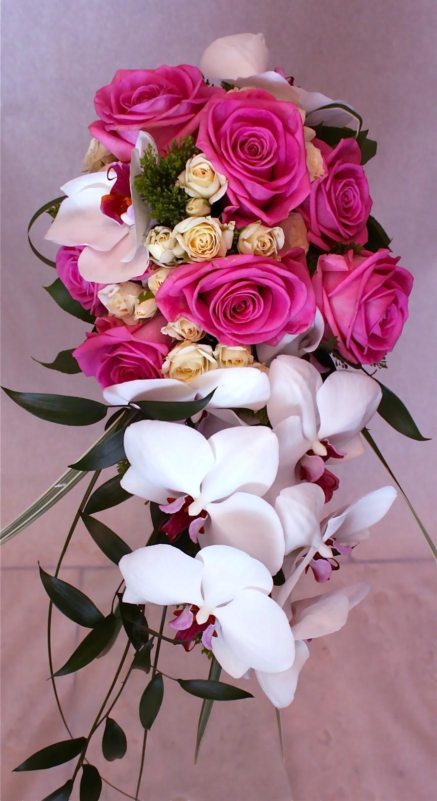 Premium Flowers: The Cascade Wedding Bouquet