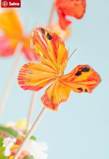 farfalle fai da te in carta crespa