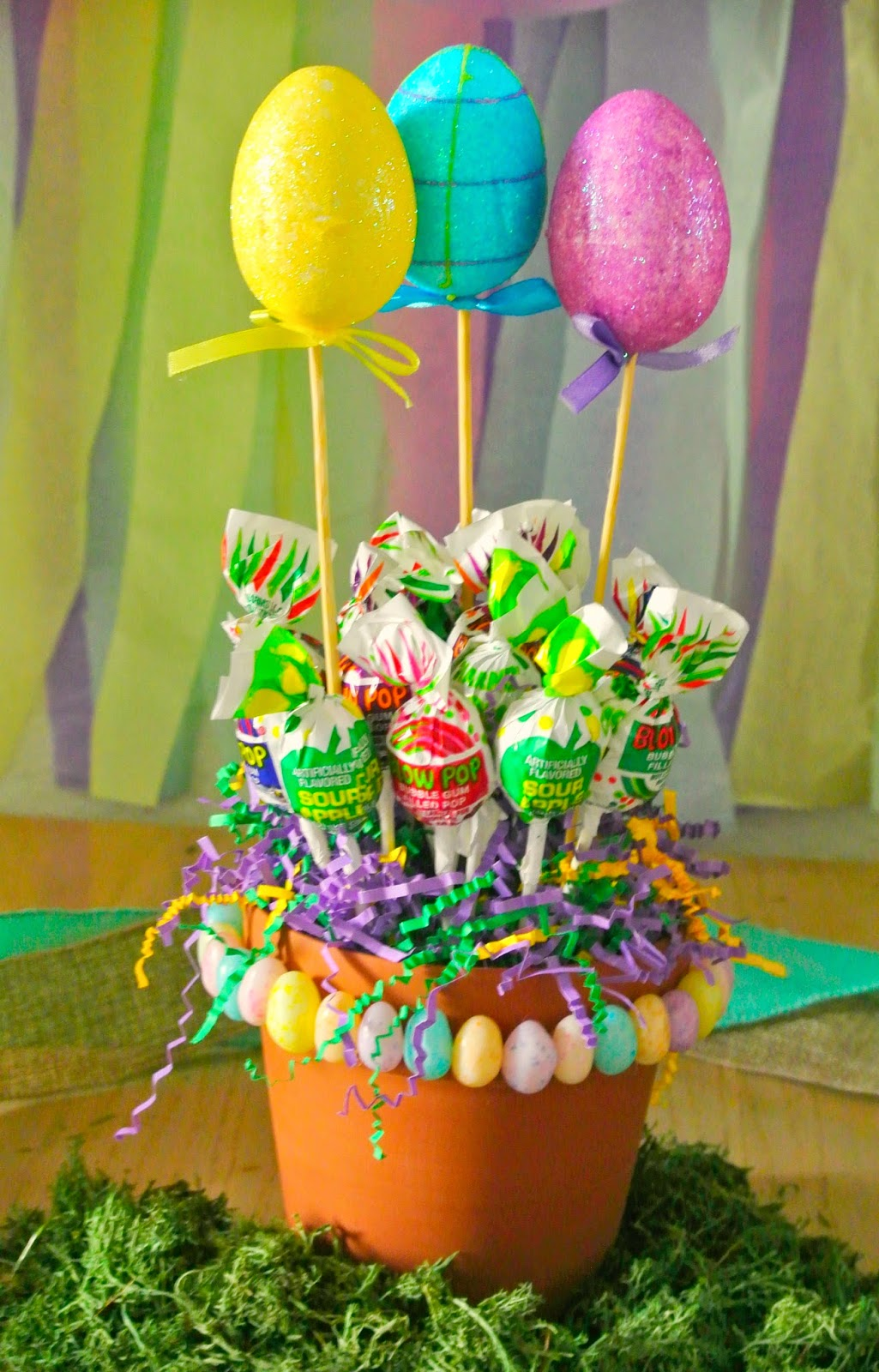 Candy bouquet, Blow Pops