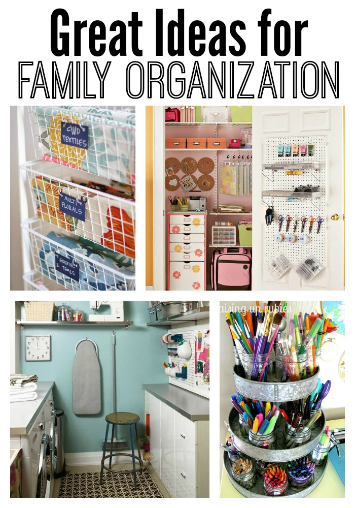 Organizing ideas for the entire family.