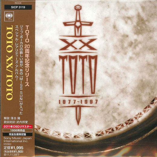 TOTO - XX [Japan Cardboard Sleeve miniLP remastered] Out Of Print -  full
