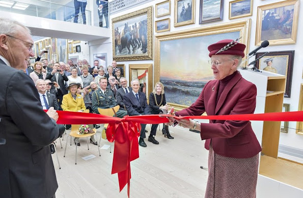 Queen Margrethe II of Denmark visited the newly renovated Skagen Museum of art in the northernmost part of Denmark