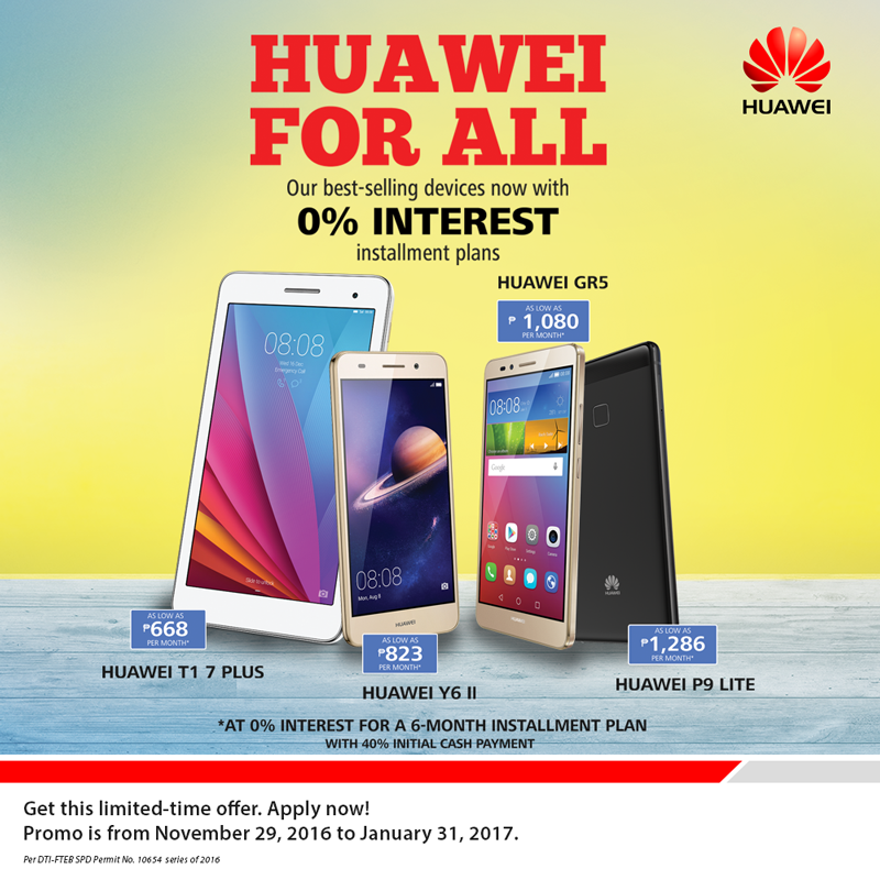 Huawei for All Home Credit promo