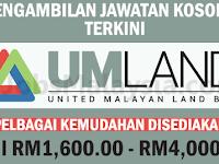 United Malayan Land Bhd - Gaji RM1,600 - RM4,000