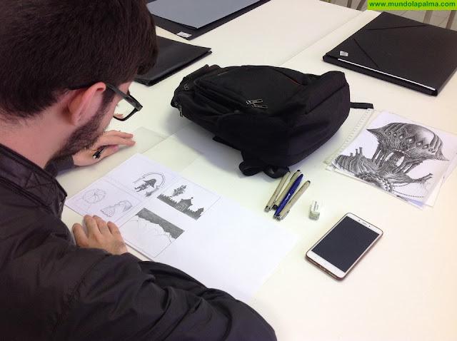 Dos alumnos de la Escuela de Arte 'Manolo Blahnik' realizan prácticas en el Servicio de Patrimonio Histórico del Ayuntamiento de Santa Cruz de La Palma