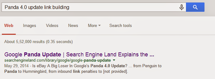 Panda 4.0 update link building with quotes