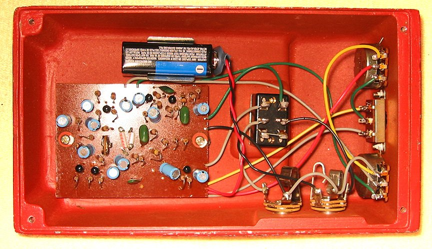 Univox Super Fuzz Pedal standard electrical wiring diagram