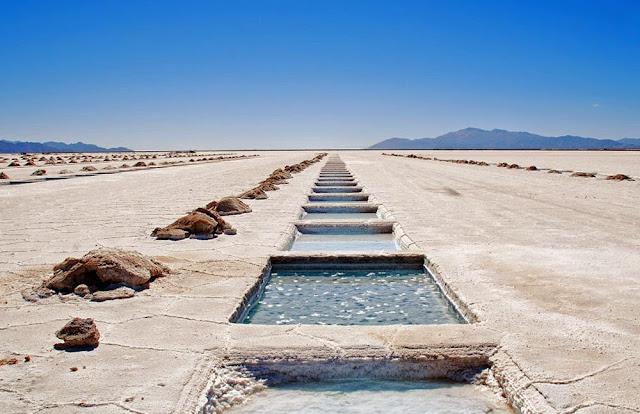 extração de sal em Salinas Grandes – Argentina