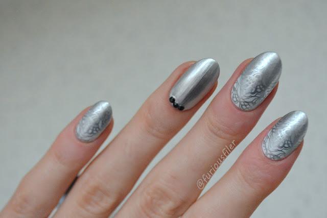 lace metallic fading gradient moyou london bridal silver