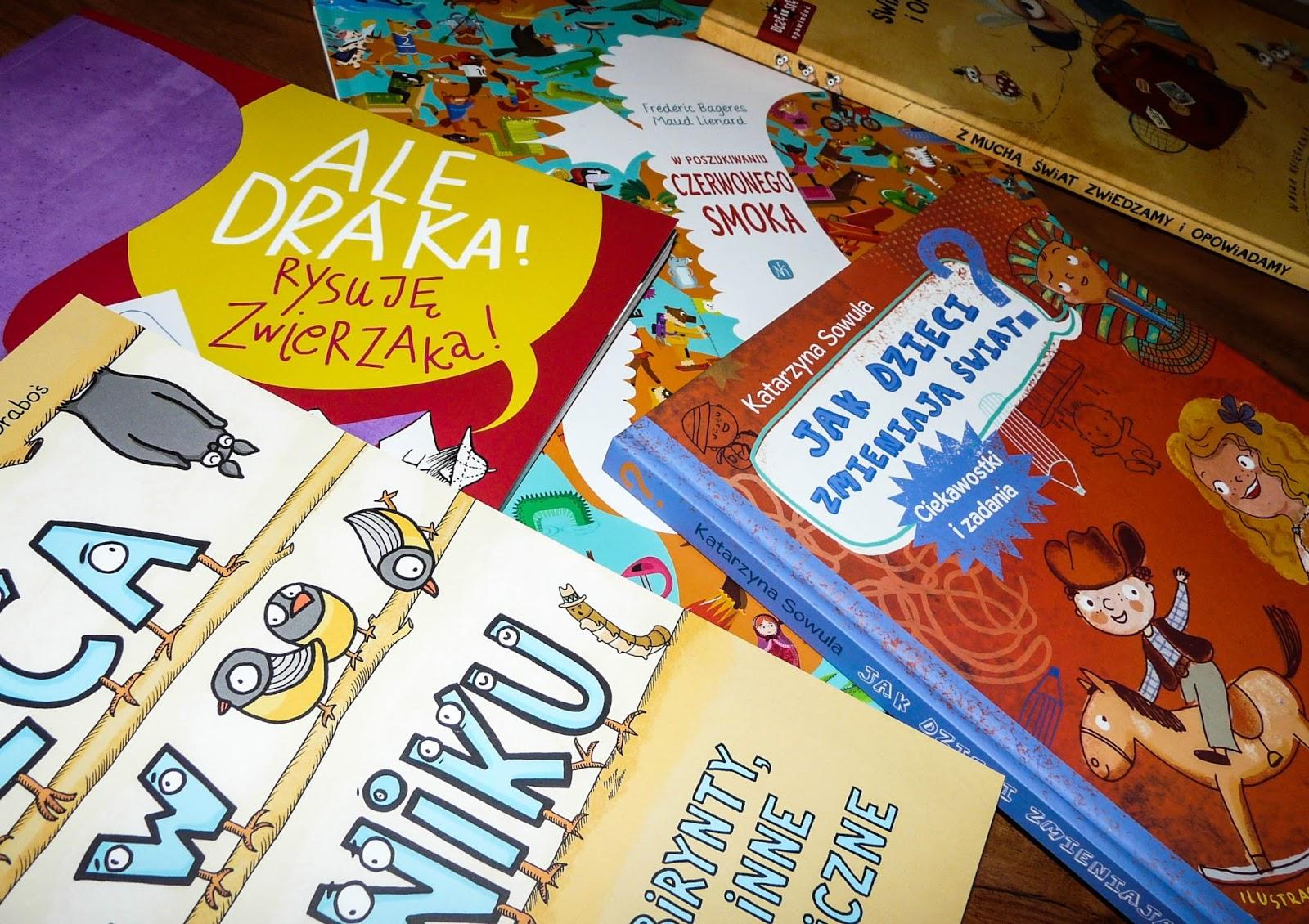 """Rysujemy, zgadujemy, wyszukujemy i opowiadamy, czyli książki """"aktywnościowe"""" dla dzieci"""