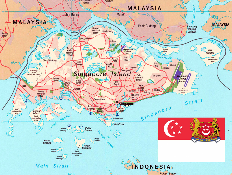 Gambar Peta Jalan Singapura