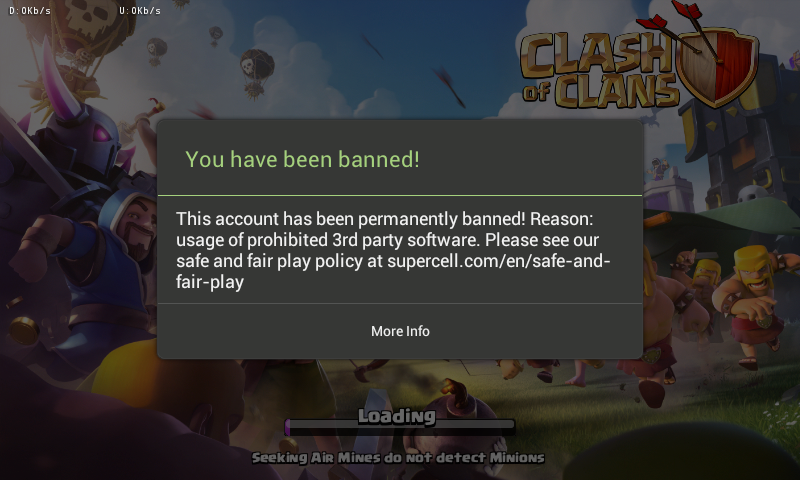 COC Banned Permanent
