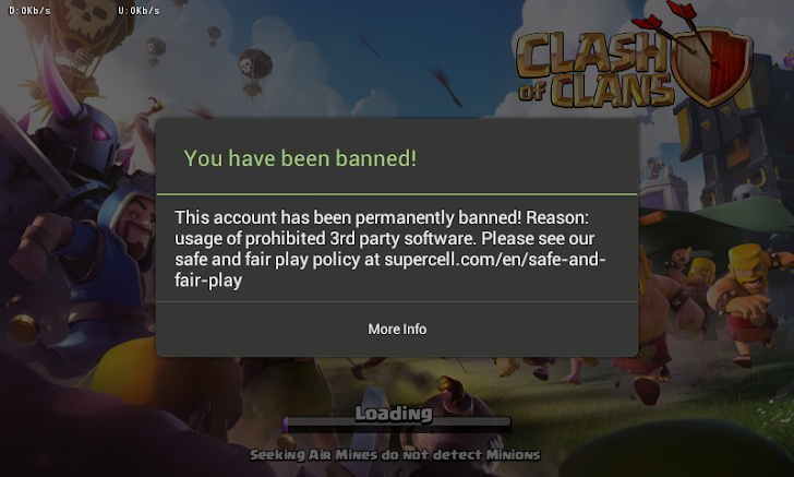 Akun COC Banned Permanent