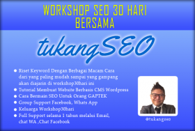 Workshop 30 Hari Tukang SEO