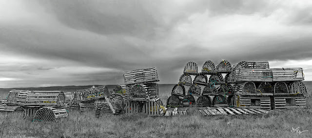 Newfoundland Art Lobster Pots
