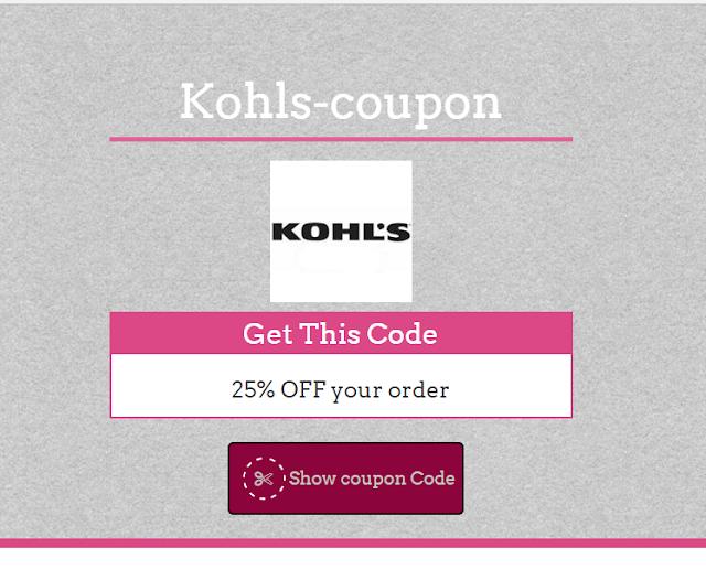 kohls 35% Coupon Code May 2017
