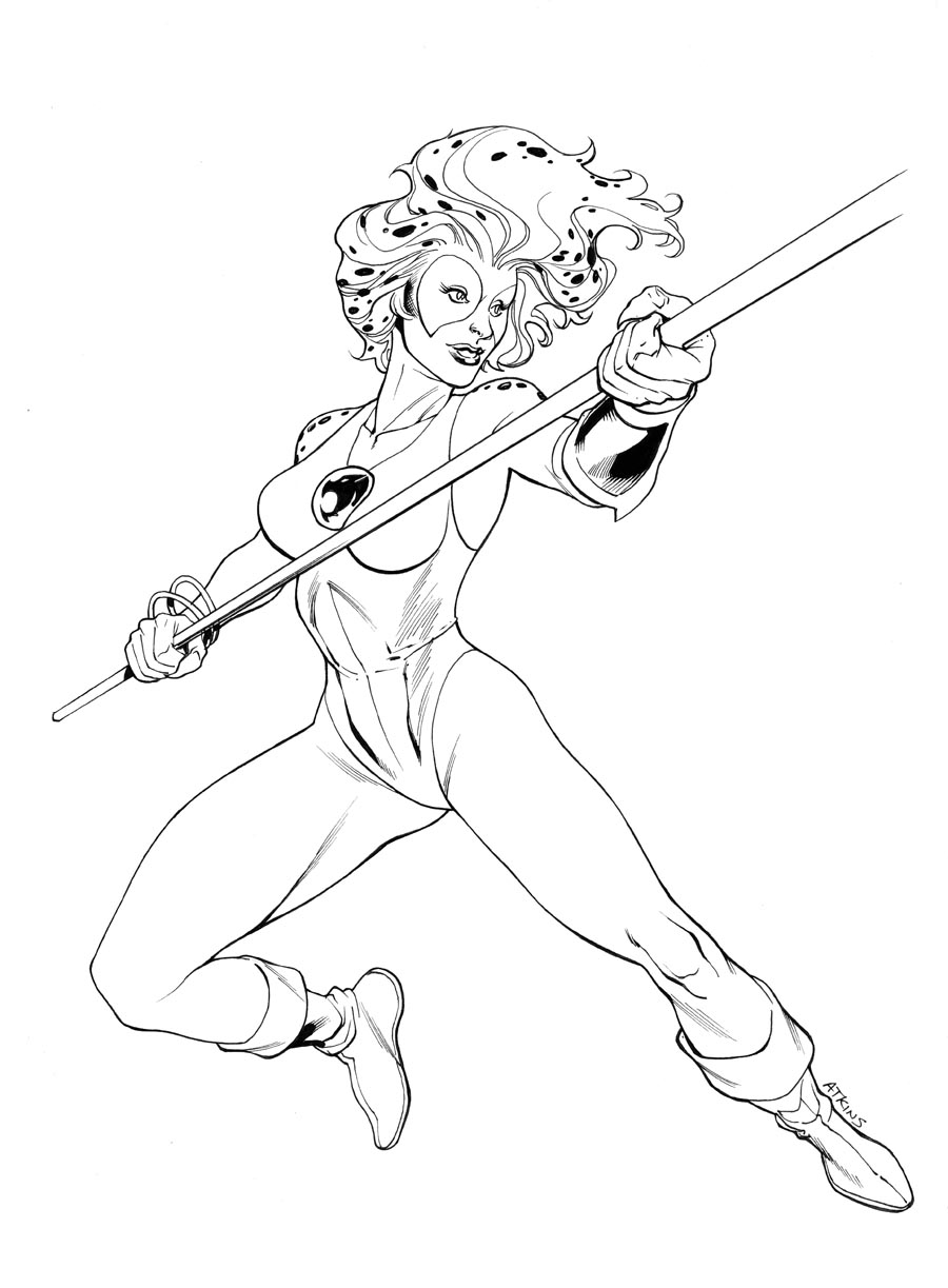 Robert atkins art july 2011 for Coloring pages thundercats