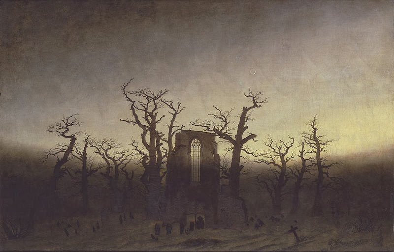 """The Abbey in the Oakwood"" - Caspar David Friedrich"