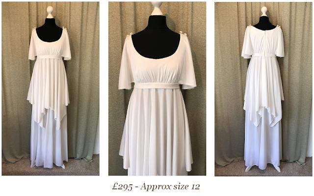Boho white vintage wedding dress available from vintage lane bridal boutique wedding dress shop in bolton manchester