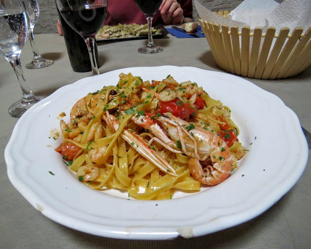Sicilian Food - fresh pasta with seafood