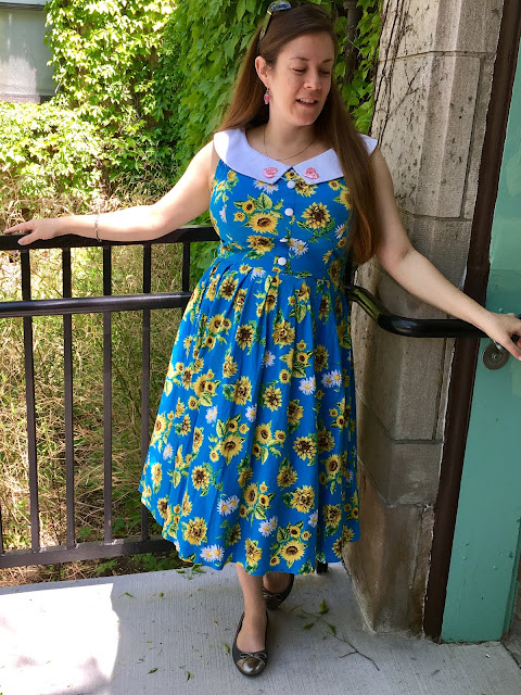 hell bunny sunflower dress