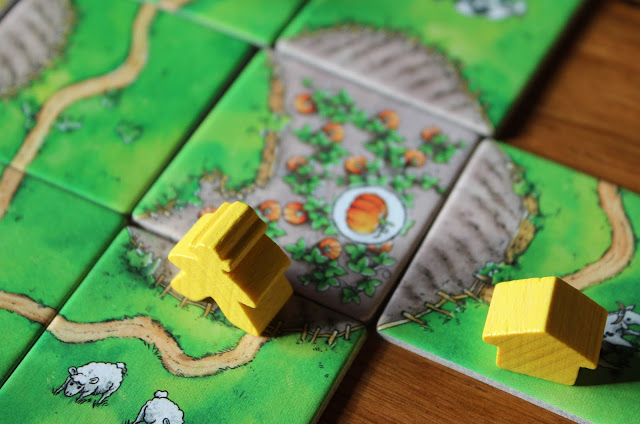 Carcassonne: Over Hill and Dale completed farm