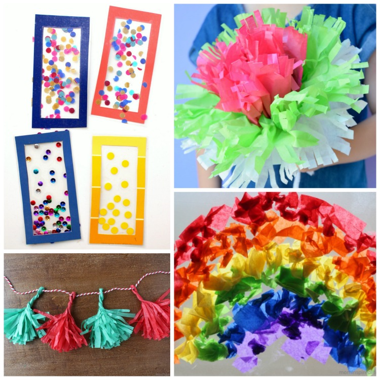 Beautiful tissue paper crafts for kids what can we do for Tissue paper for crafts