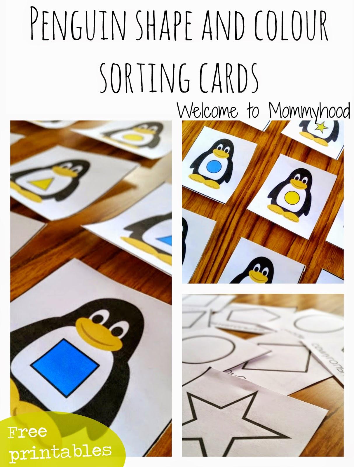 Penguin Shape Printables